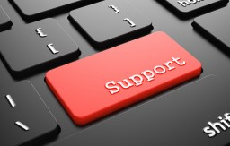 Support on Red Keyboard Button